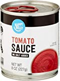Amazon Brand- Happy Belly Tomato Sauce, No Salt Added, 8 Ounce