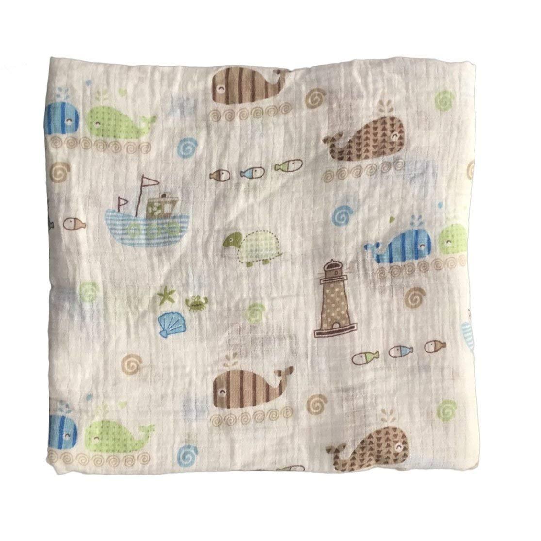 120x120cm Muselina manta envoltura para beb/és envoltura para beb/és Algod/ón 100/% Reci/én nacido Toalla de ba/ño para beb/és Mantas para mantas Dise/ños m/últiples Funciones