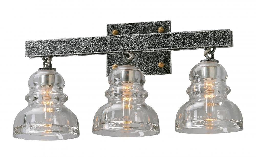 Troy Lighting Menlo Park 4-Light Vanity - Old Silver Finish with Historic Pressed Clear Glass - - Amazon.com  sc 1 st  Amazon.com & Troy Lighting Menlo Park 4-Light Vanity - Old Silver Finish with ... azcodes.com
