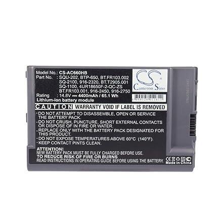 7a095f9e0e66 Amazon.com: Sunsamy Backup Laptop Notebook Battery 4400mAh/65.12Wh ...