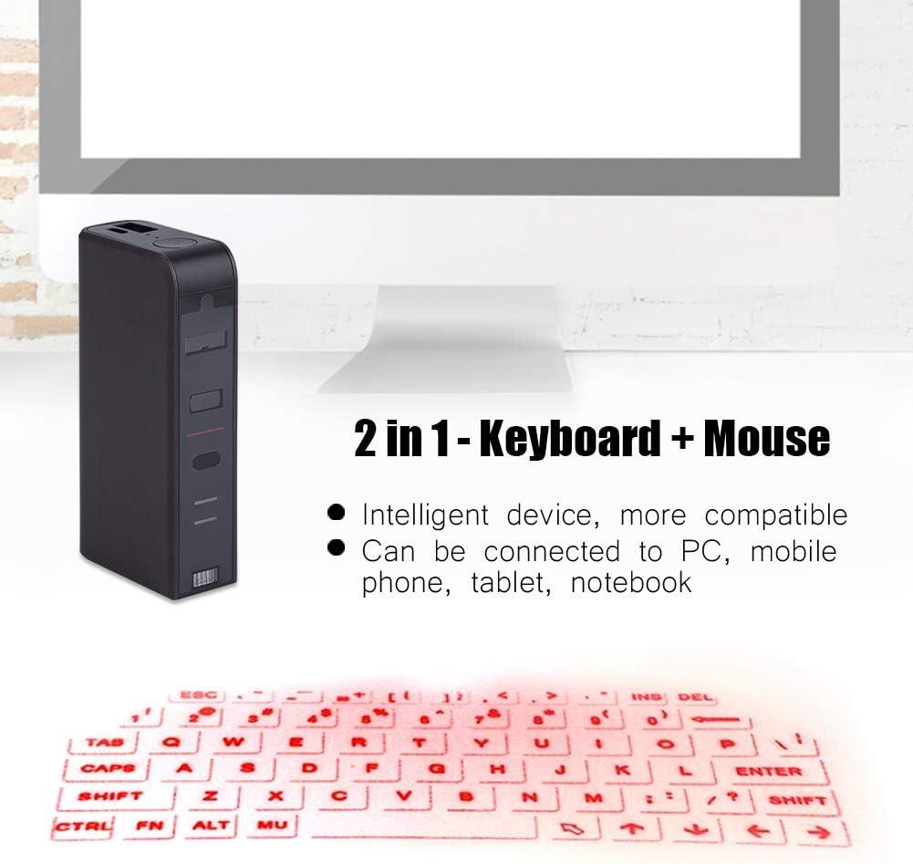 Teclado virtual proyector Bluetooth Garsent inalámbrico portátil mini teclado Bluetooth proyector teclado inalámbrico para Smartphone PC Tablet Laptop
