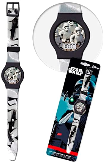 Disney Star Wars Stormtrooper Niños Reloj digital kids Watch Reloj de aprendizaje: Amazon.es: Relojes