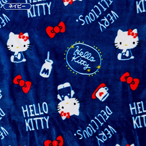Sanrio Hello Kitty Fuwamoko blanket Navy From Japan New by SANRIO (Image #1)