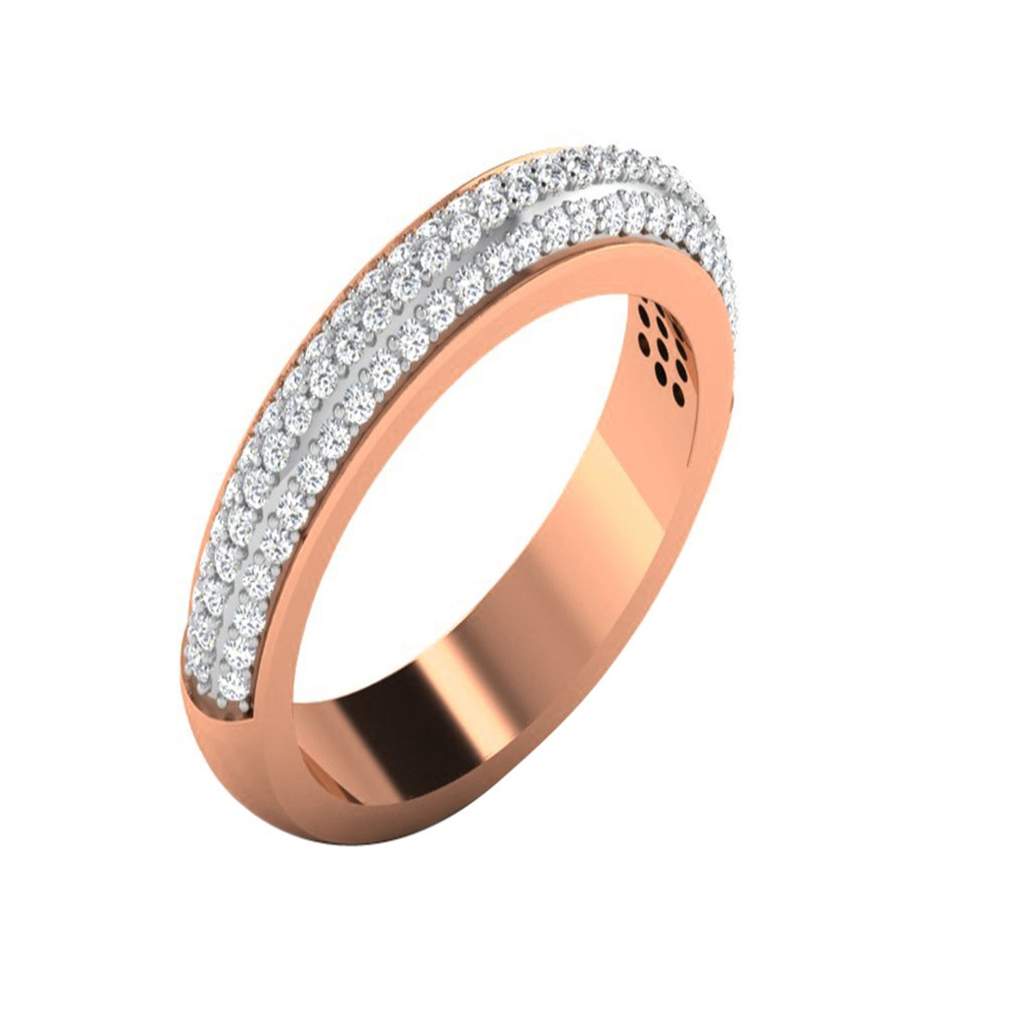 Engagement Wedding Ring 14K Two Tone Gold Fn Alloy /& Simulated Diamond Studded Jewellery