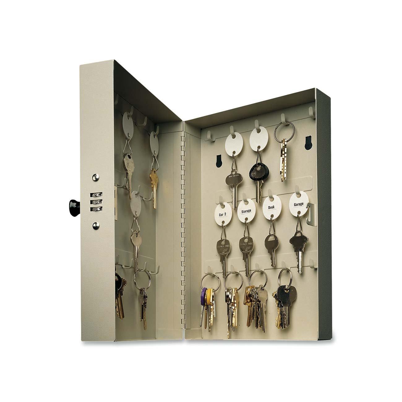 MMF Industries 28-Key Hook-Style Steel Key Cabinet (201202889)