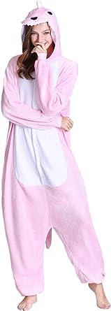 Kimpola Unicornio Pijamas de una Pieza para Unisexo Adulto Niños Cálido Interiores Tela de Franela Estilo de Dibujos Disfraces Animados Camisones Ropa ...