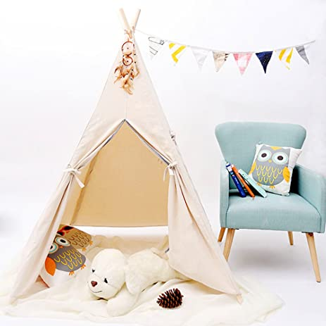 Kids Teepee Tent,Play Tent For Children Gift Outdoor And Indoor Playhouse  Decoration (With