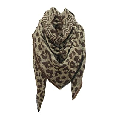 Foulard Echarpes et foulards Echarpe triangle femme imprimé léopard Écharpe  chaude châle by 75d927df62c