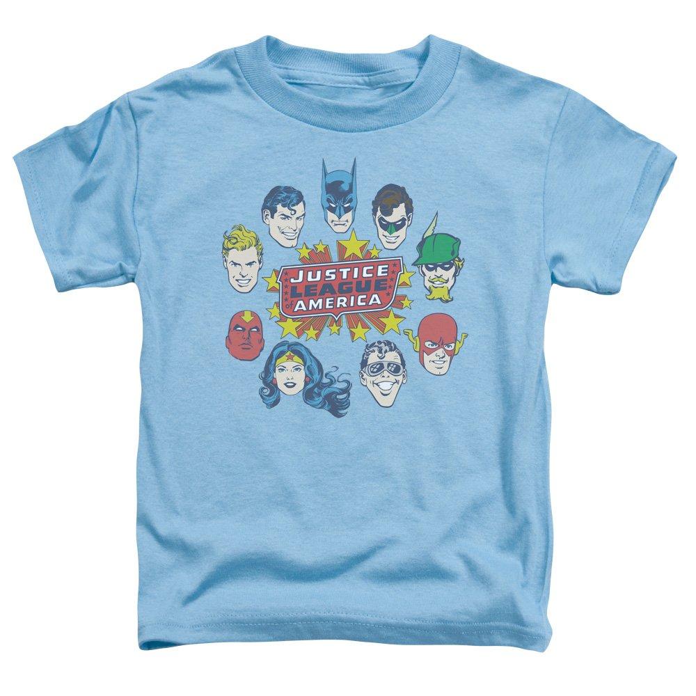 DC Comics Justice League Head Circle Flash Batman Aquaman Little Boys Tod Tee