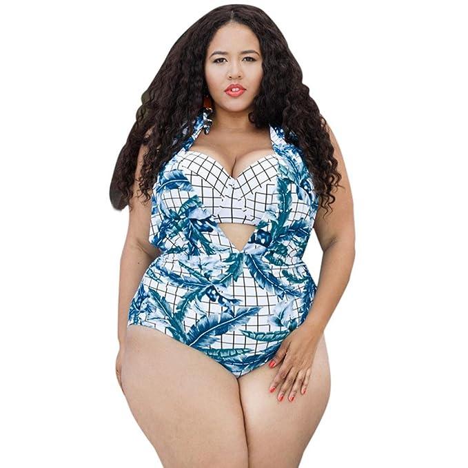 261d2e1359 Tootu Plus Size Women Swimsuit Push Up Bikini Swimwear Bathing Monokini  Beachwear (Size XL