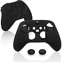 Capa de silicone para Xbox Series S/X, capa protetora para Xbox Series S/X com apoios de polegar – Preta