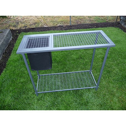 Garden Greenhouse Utility Potting Bench with Wire Mesh Top, Silver by Generic