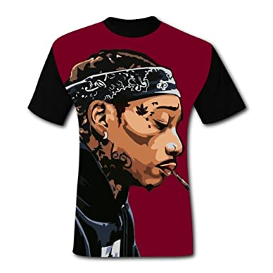 Amazon.com  Knwazz Mens T-Shirts Hip Hop Street Style Fashion 3D Printed  Short Sleeve Top Tees  Clothing a946ac7c66af