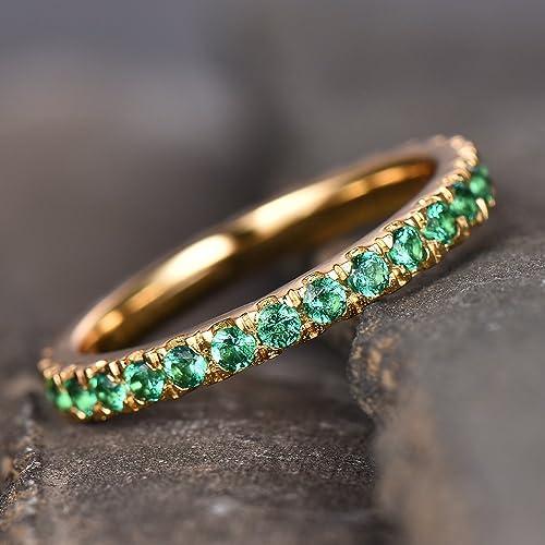 Emerald Wedding Band.Amazon Com Natural Emerald Wedding Band Sterling Silver Emerald