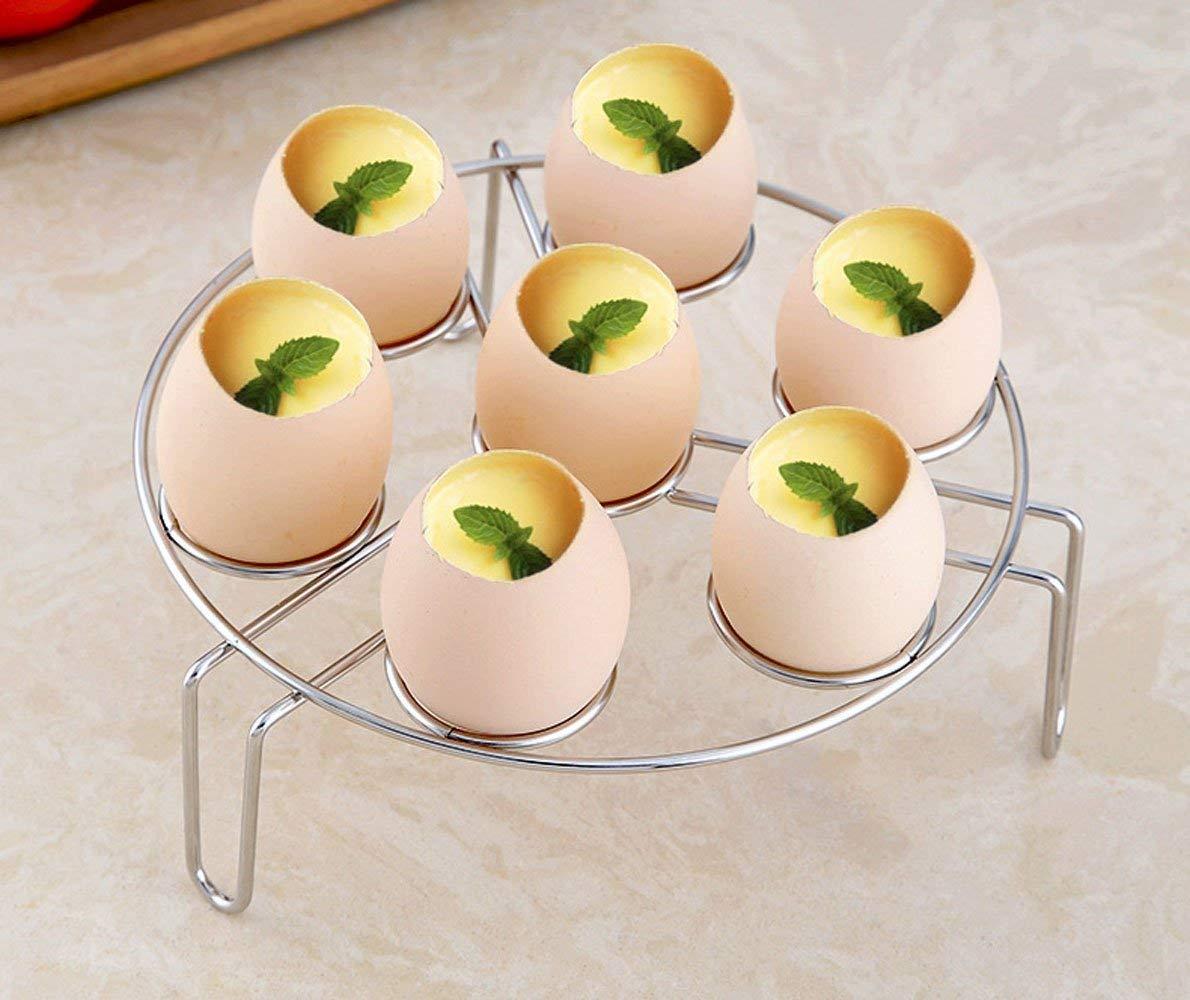 Salvamanteles para huevos de acero inoxidable, soporte multiusos para cocina, cesta de alimentos, soporte para macetas en la cocina para accesorios de cocina a presión T-shin