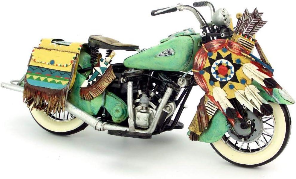 Color : Green LINGLING-Mod/èle M/étal Mod/èle R/étro D/écoration Vintage Artisanat Fait /À La Main Ferronnerie 1953 Vintage Moto Mod/èle Ornements Cadeau danniversaire