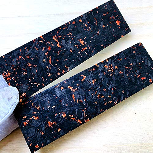 Aibote 2pcs Composite Knife Handles Material Resin Carbon Fiber Handle Scales Knives Top Custom DIY Tools for Blanks Blades Jewelry Making(Each Pair is Unique)