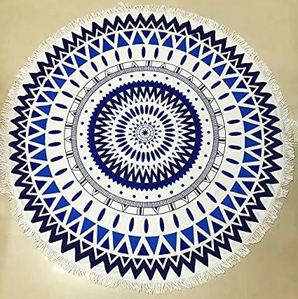 Ronda de flor de loto Mandala tapiz peso ligero al aire libre playa gitana manta toalla