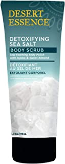product image for Desert Essence Detoxifying Sea Salt - Body Scrub - 6.7 Fl Ounce - Low Foaming Body Polish with Jojoba & Sweet Almond - Smooth & Soften Skin - Sea Salt - Shea Butter - Biff Away Dead Skin Cells