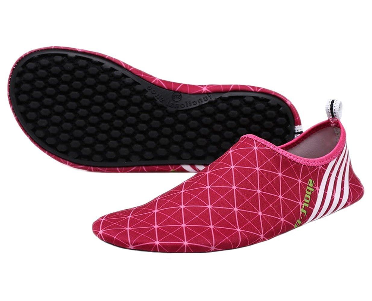 Santimon Aqua Socks Water Shoes Wave Pool Beach Swim Yoga Exercise Sports Slip On Plaid