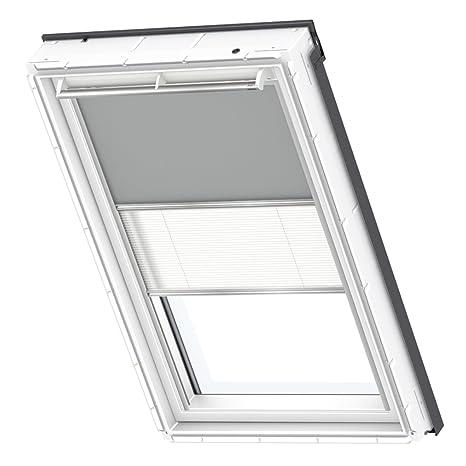 VELUX Original Verdunkelung Plus für Dachfenster, FK06, Uni Grau/Weiß