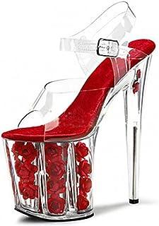 HETAO personnalité Super High Heels Club Chaussures pour Femmes Transparent PVC/Platform Talons/Sandales Mariage/Party & Evening/Dress Stiletto Heel Le Cadeau de la Fille