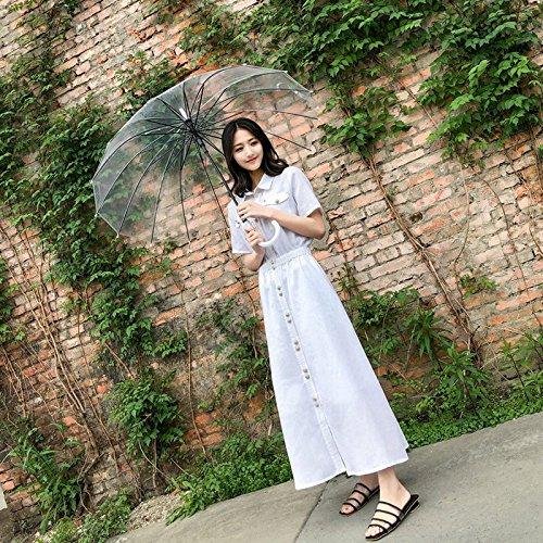 2018 Robe et Jupe Chemise Minimaliste Robes Lin Longue Jupe White Une M Jupe Ancienne Coton MiGMV wcT1Ctqvw