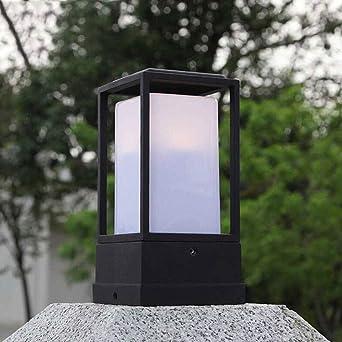 Luz de poste de lámpara de jardín moderna negra al aire libre ...