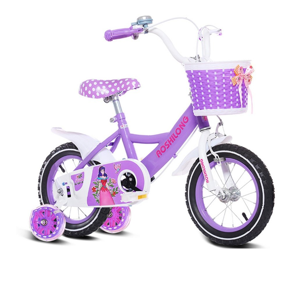 美しい 家チャイルドフォールド自転車3-6-8歳のベビーベビーカー12インチ14インチ16インチ18インチバイク (色 : パープル ぱ゜ぷる, サイズ さいず : 18Inch) B07CXFQB69 18Inch|パープル ぱ゜ぷる パープル ぱ゜ぷる 18Inch