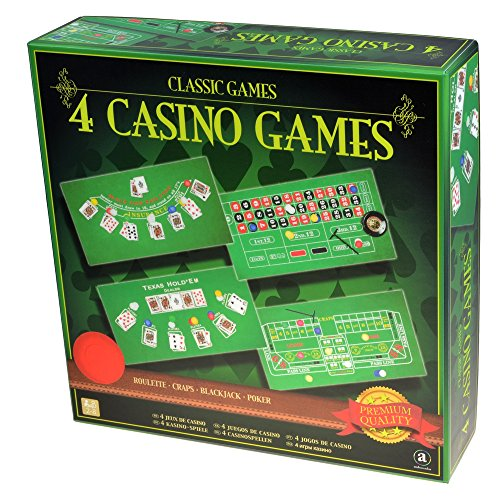Merchant Ambassador Classic Games Collection - 4 Casino Games Set