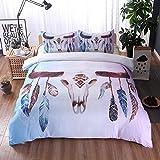 DuShow Hotel Quality Soft Duvet Cover Set 3 Pieces (1 Duvet Cover, 2 Pillow Shams) Hypoallergenic Breathable Comforter Case Quilt Cover(Queen,Animal)