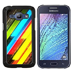 Stuss Case / Funda Carcasa protectora - Neón Líneas Amarillo Verde Eléctrico - Samsung Galaxy J1 J100