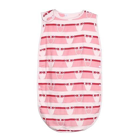 Silveroneuk - Saco de dormir sin mangas para bebé recién nacido, algodón, diseño de