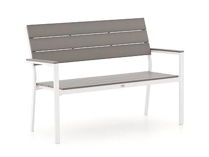 Bellagio Stabile Bravo Gartenbank 2 Sitzer | Aluminium Gartenbank 128 cm,  Sitzbank für Garten oder Balkon | Wetterfest, pflegeleicht und Zeitloses ...