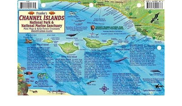 By Franko Maps Ltd. Channel Islands National Park Map & Kelp Forest ...