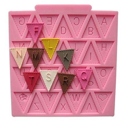 Decoración de Pasteles Moldes, plantillas letras molde para horno de silicona chocolate jabón Moldes para