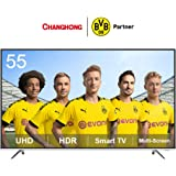 CHANGHONG U55F6000 LED 4K Smart TV, UHD, 55 Inch, HDR, APP Store, WiFi, A+ Multi-Screen, HDMI, USB
