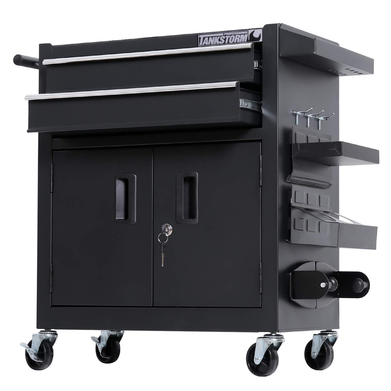 TANKSTORM Tool Chest Heavy Duty Cart Steel Rolling Tool Box with Lockable Doors (TZ12 Black) by TANKSTORM (Image #4)