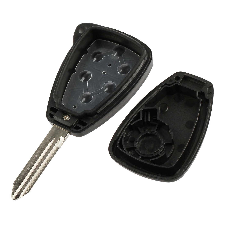 Keys USARemote Dodge Key Fob Keyless Entry Remote Shell Case /& Pad fits Chrysler