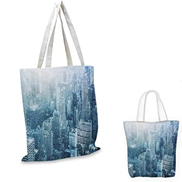 63603bcae2 Winter canvas laptop bag Snow in New York City Image Skyline with Urban  Skyscrapers in Manhattan