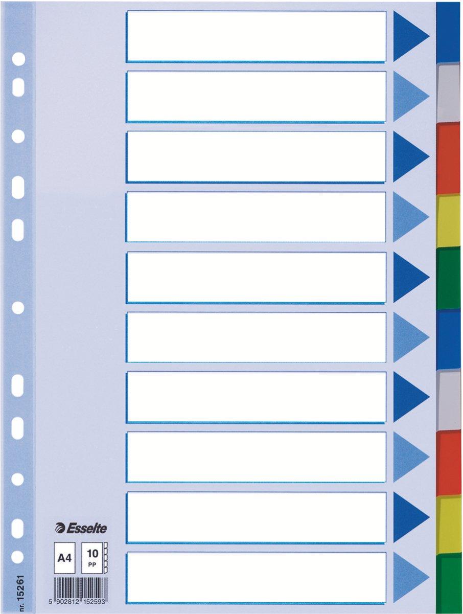 Esselte Plastic tabs, A4 15261