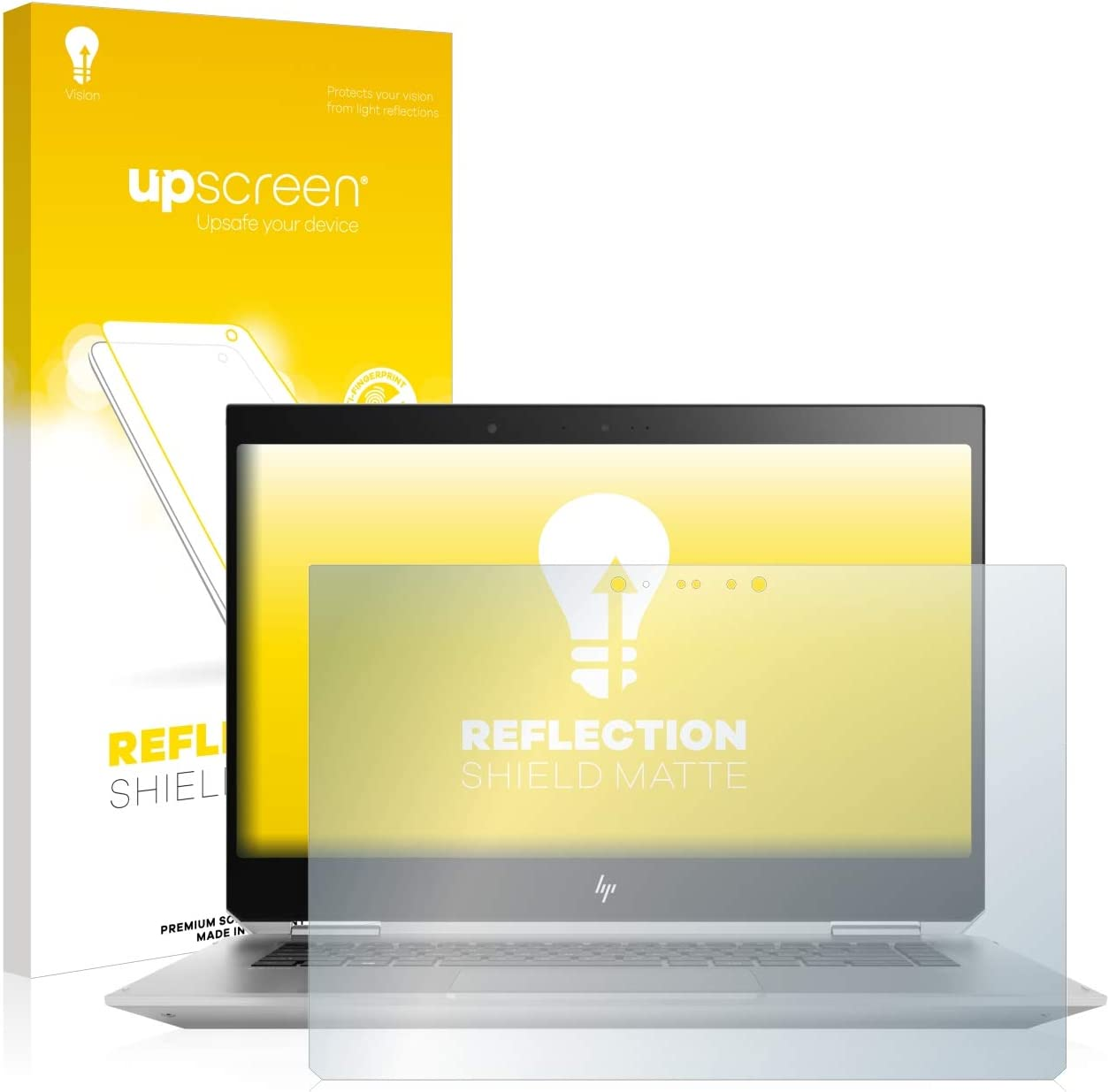 upscreen Protector Pantalla Mate Compatible con HP ZBook Studio x360 G5 Pel/ícula Anti-Huellas Antireflejos