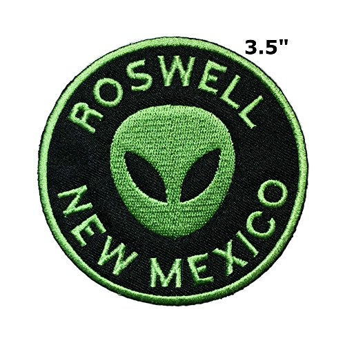 Application X-Files NASA Space Program Classic Area 51 Roswell Cosplay Badge Embroidered Iron Or Sewn-On Applique Patch ()