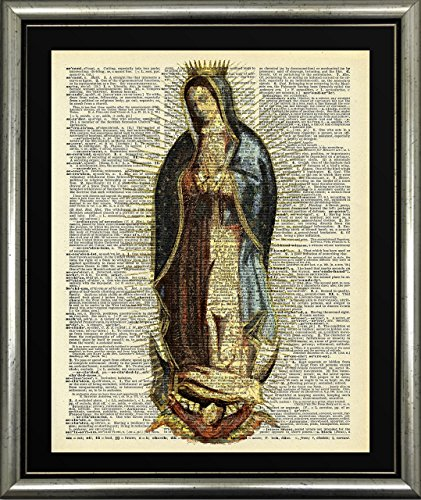 Amazon.com: Handmade Kitchen Wall Art Virgin Of Guadelupe Picture ...