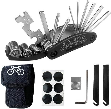 Q-xun Kit Herramientas Bicicleta, Herramienta de Reparación ...