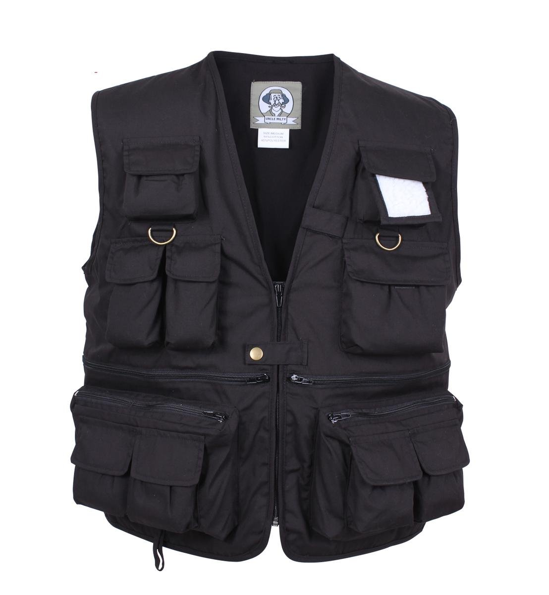 Rothco Uncle Military Vest, Black, 4X
