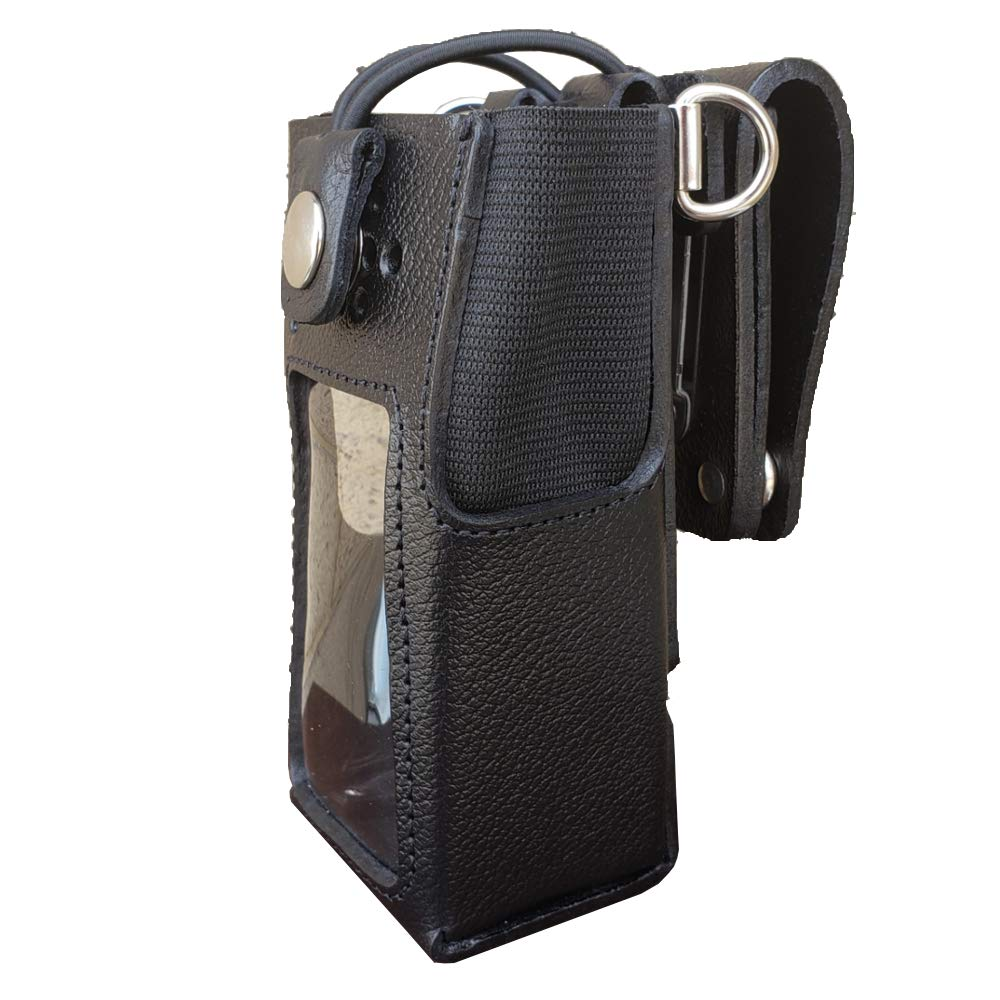 Case Guys MR8555-3BWD Hard Leather Swivel Belt Loop Holster Case with Bungee Cord for Motorola XPR 7550 XPR 7580e Two Way Radios