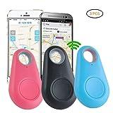 AimdonR Tracker GPS Smart Finder Locator avec Bluetooth pour enfant garçon fille animal de compagnie téléphone alarme anti perte Selfie Shutter Wireless (3 Pack)