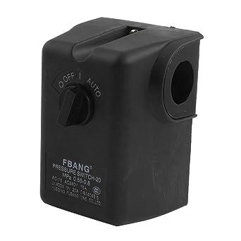 AC240V 15A 80-115PSI compresor de aire Interruptor de presión de la válvula de control