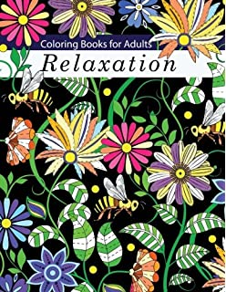Coloring Books For Adults Relaxation Adult Flowers Animals And Garden Designs